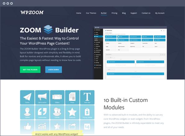 ZOOM Builder | Drag & Drop Page Layout Builder for WordPress