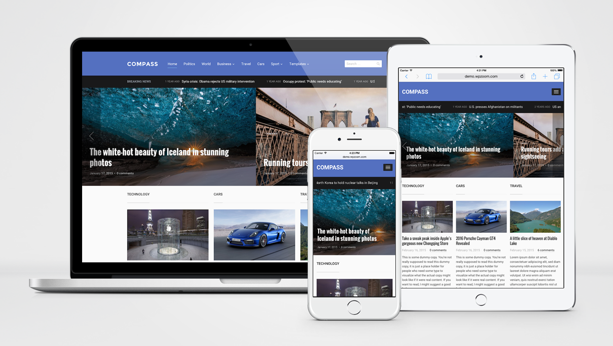 Compass - Magazine Theme for WordPress