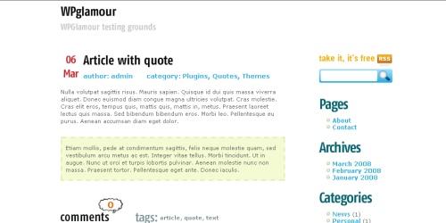 Flash WordPress