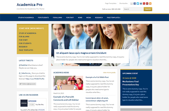 Academica Pro Theme for Education and NGO Websites