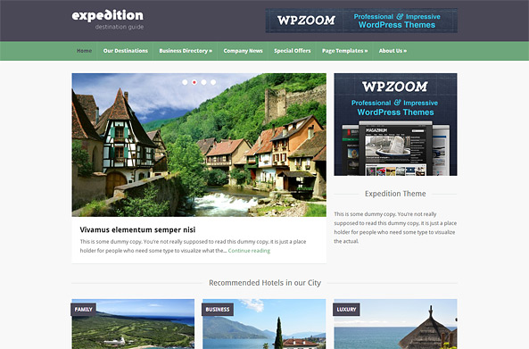 Expedition Directory & Travel WP Theme