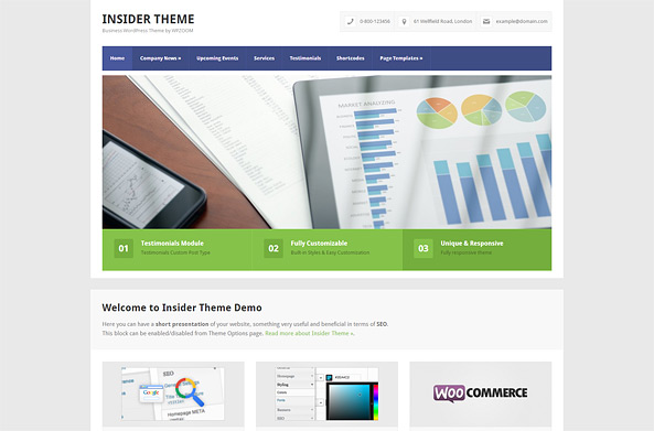 Insider Business & E-Commerce WP Theme