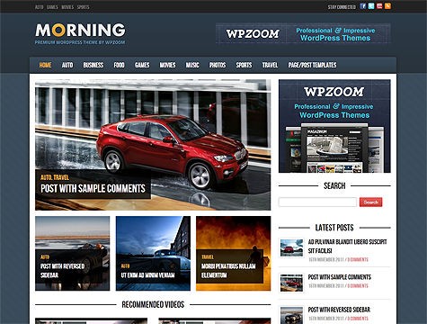 WpZoom Review and Latest WordPress Themes