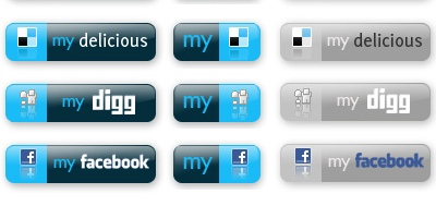 Free social bookmarking icon set