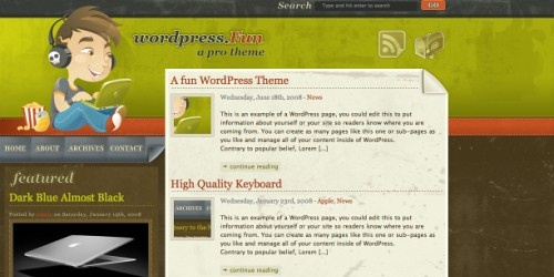 Best Free WordPress Themes in 2008