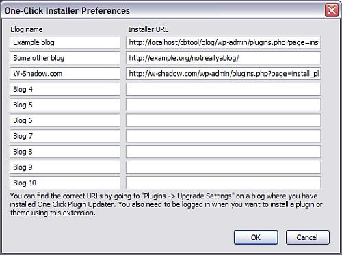 WordPress Firefox Addons