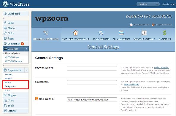 WPZOOM Options Panel