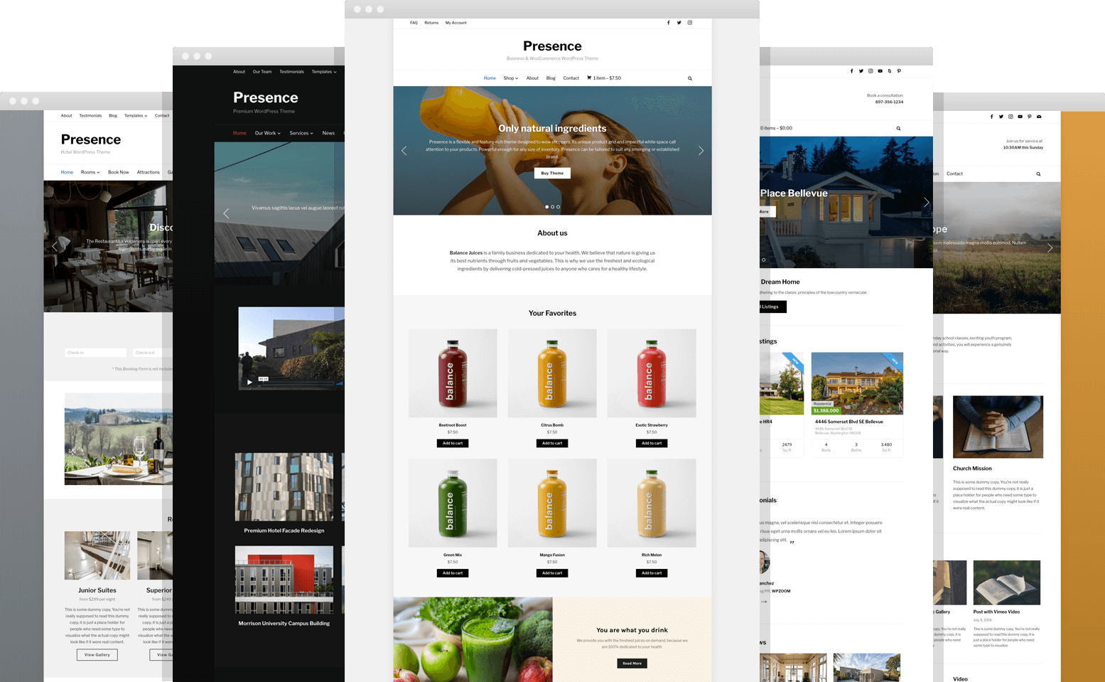 Presence • best multipurpose WordPress theme – WPZOOM