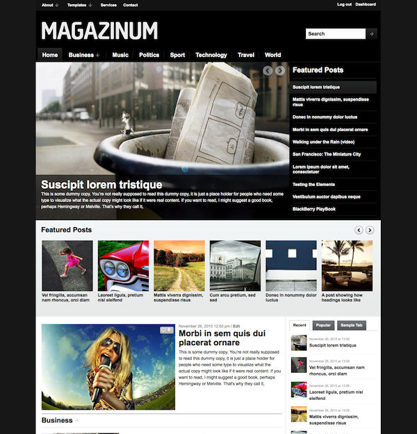 45+ Free Premium WordPress Themes with Magazine or Grid Layouts