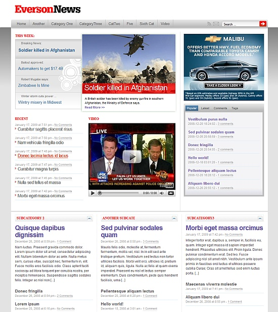 eversontheme EversonNews Free WordPress Theme