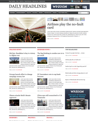 WordPress Theme: Daily Headlines