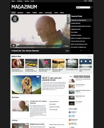 WordPress Video Theme: Magazinum