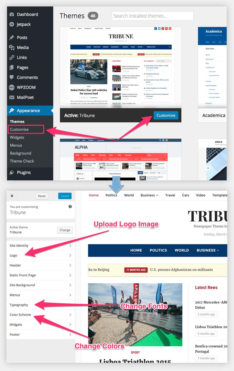 tribune-customizer