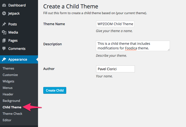 Make_a_Child_Theme_‹_WPZOOM_—_WordPress