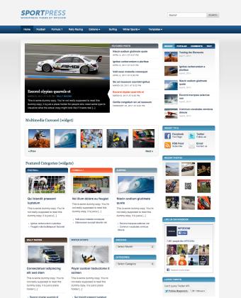 WordPress Video Theme: SportPress