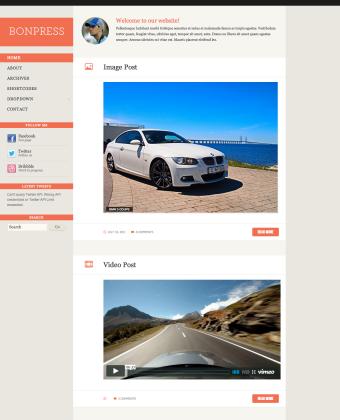 WordPress Theme: BonPress