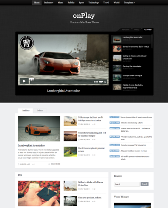 WordPress Theme: onPlay
