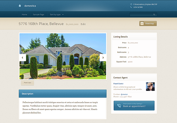 Domestica Allinone Real Estate Solution For WordPress - House listing template