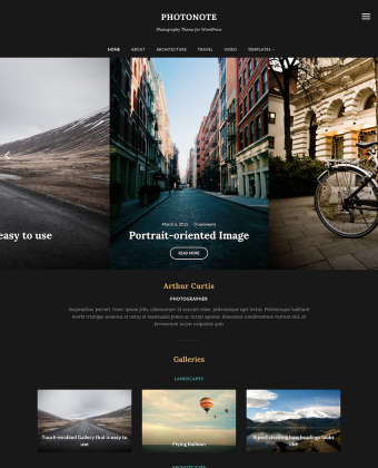WordPress Theme: PhotoNote 2.0