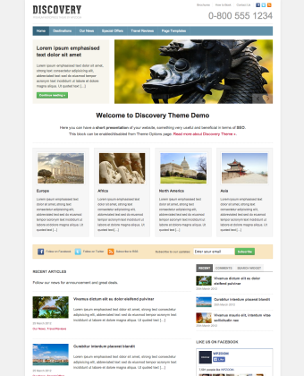 WordPress Theme: Discovery