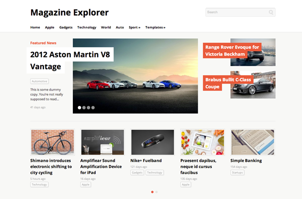 Magazine Explorer Theme