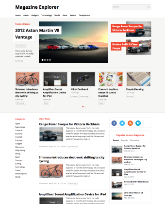 WordPress Theme: Magazine Explorer