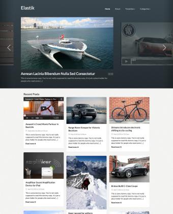 WordPress Video Theme: Elastik