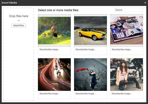 New Media Uploader UI Screenshot