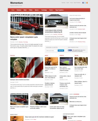 WordPress Magazine Theme: Momentum