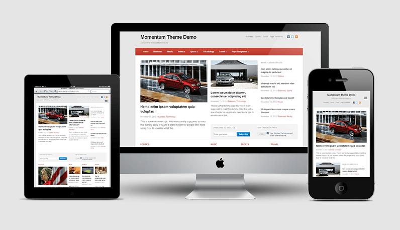 Momentum: a responsive starter theme for any news website