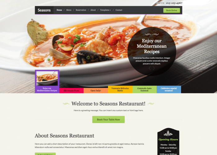 Seasons - Restaurant WordPress Theme by WPZOOM