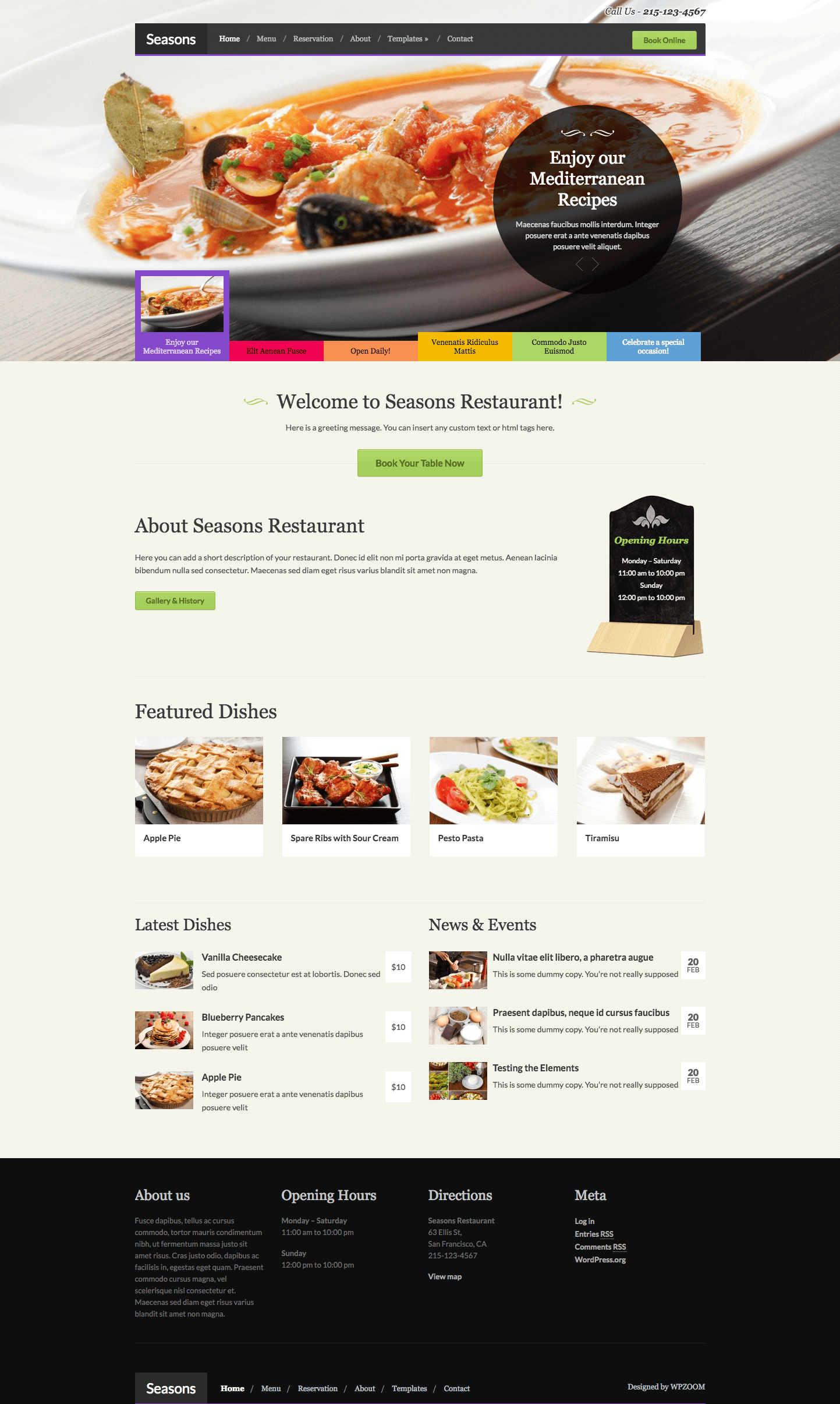 seasons restaurant wordpress theme by wpzoom