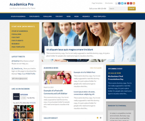 WordPress Theme: Academica Pro
