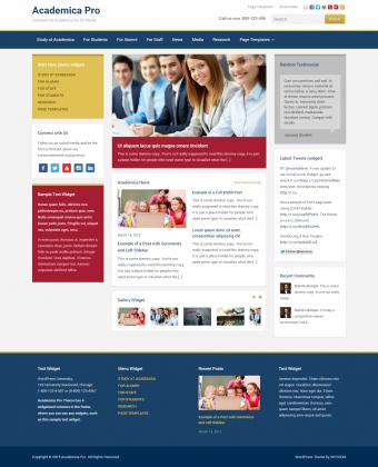 WordPress Theme: Academica Pro 2.0