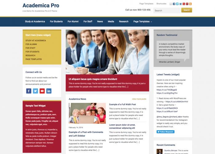 Academica Pro Academic WordPress Theme WPZOOM - Great wordpress templates