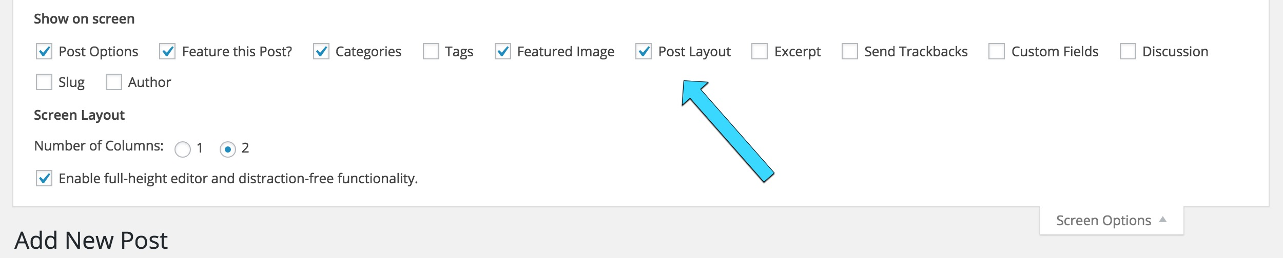 Changing the layouts of posts