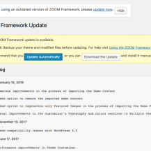 Using the ZOOM Framework automatic updates