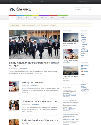 WordPress Theme: Chronicle