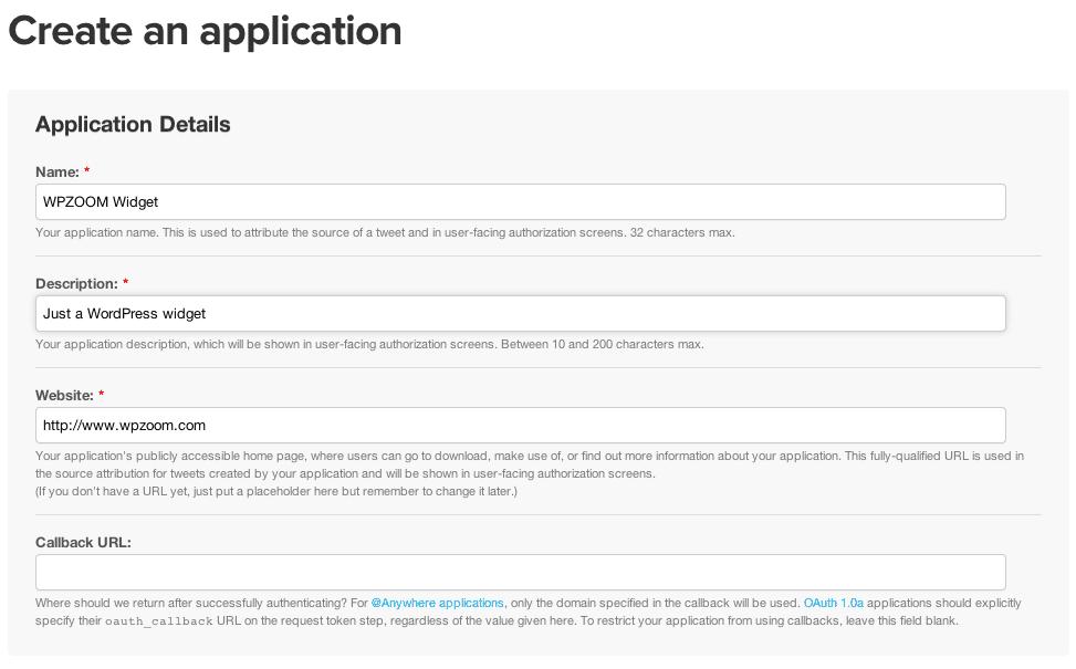 Twitter Widget With Api Version 11 Setup Instructions Wpzoom