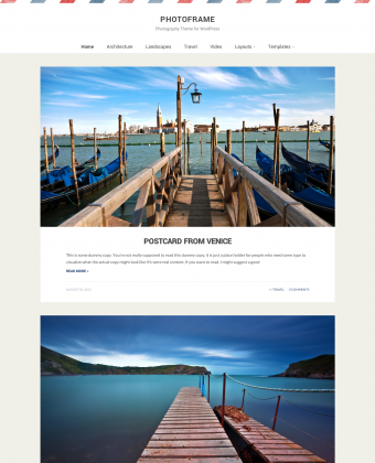 WordPress Theme: PhotoFrame