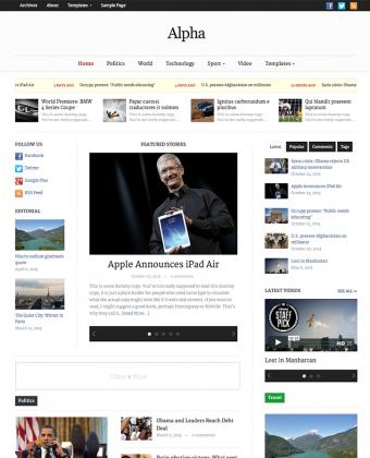 WordPress Magazine Theme: Alpha