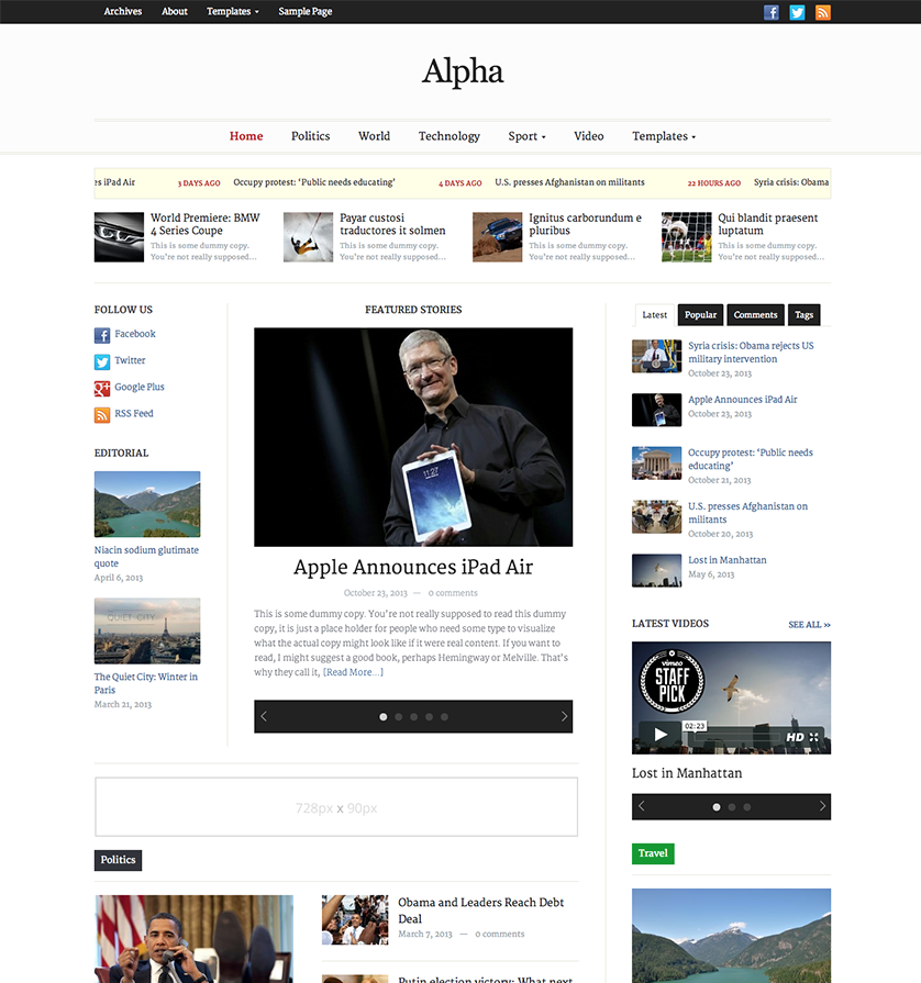 alpha-newspaper
