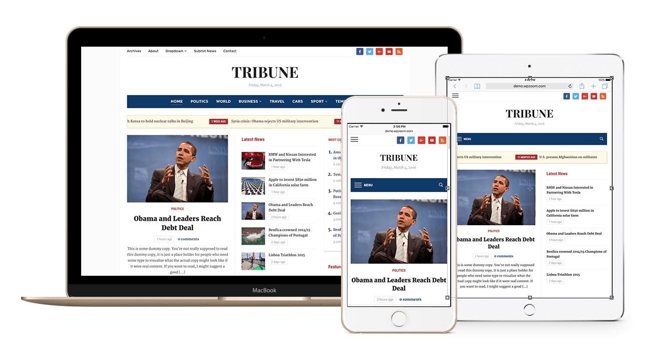 Tribune Best Wordpress Magazine Theme Wpzoom