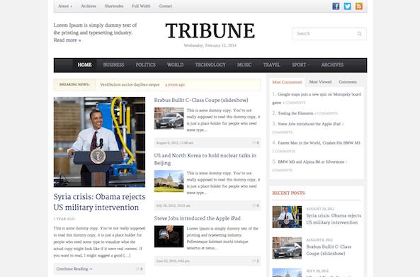 Tribune 3.0 Theme