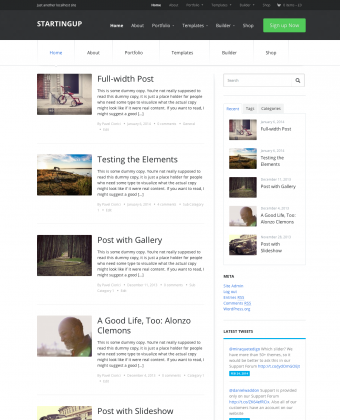 WordPress Theme: StartingUp