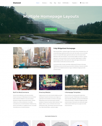 WordPress Theme: Diamond