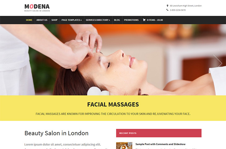 Modena Business WordPress Theme