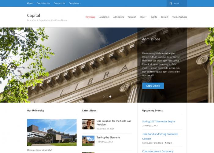 Capital 1.2.2 | Best education WordPress theme