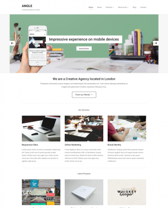WordPress Theme: Angle