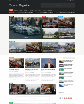 WordPress Theme: Domino Magazine